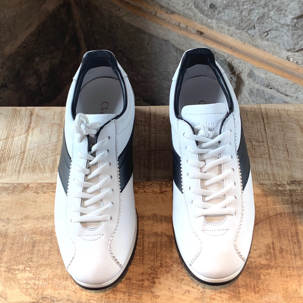 Christian Dior White Diorrun Leather Sneakers