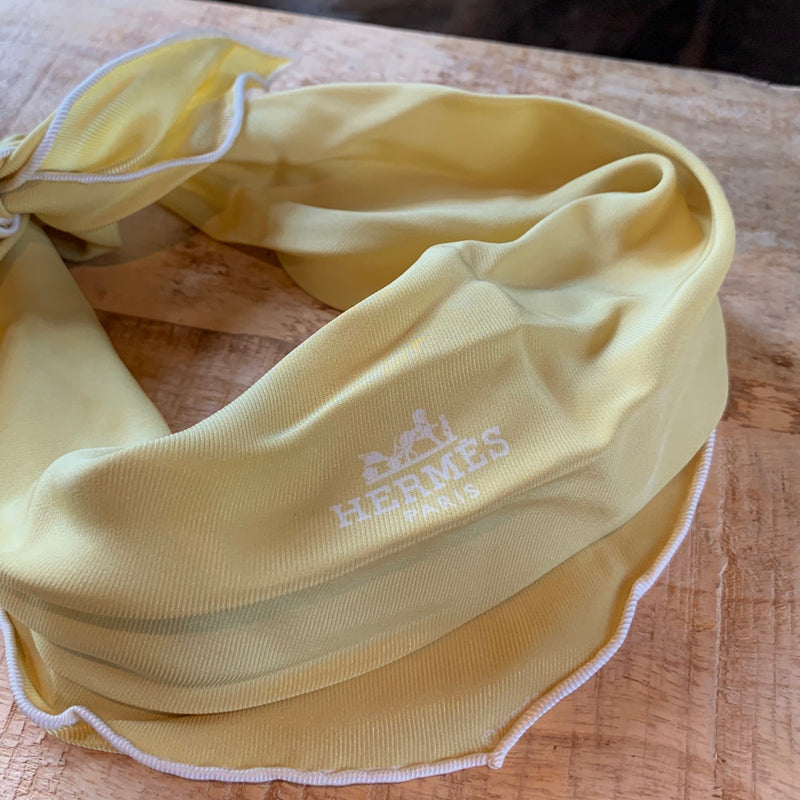 Hermès Yellow Silk Scarf
