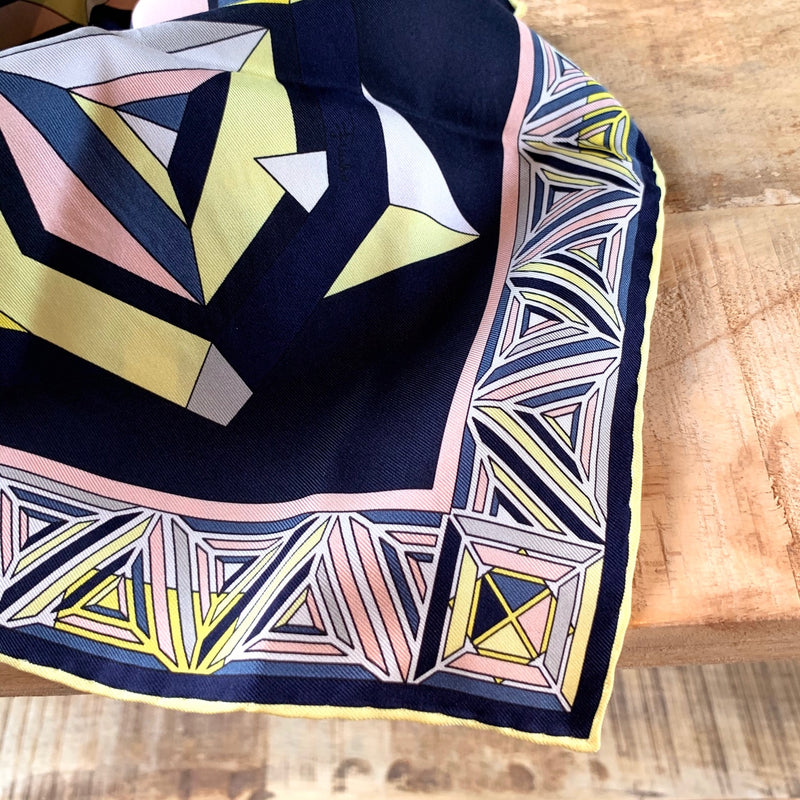 Emilio Pucci Abstract Silk Scarf