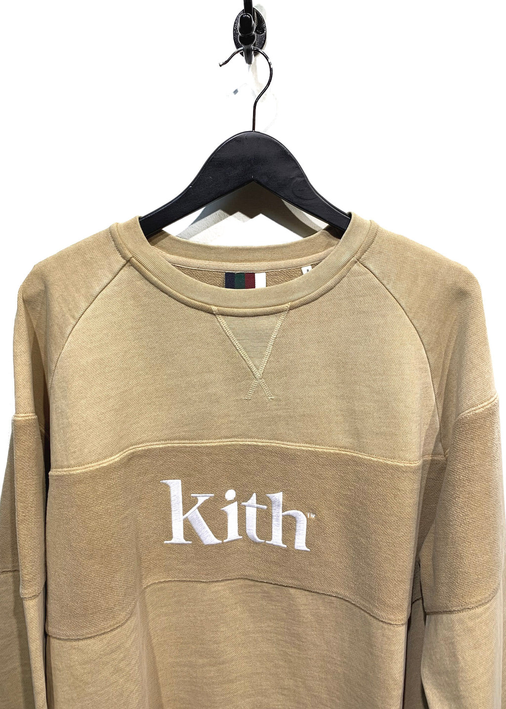 Kith Beige Logo Embroidered Sweatshirt