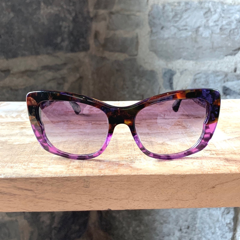 Miu Miu 5MU 03O Cat Eye Purple Marble Gradient Sunglasses