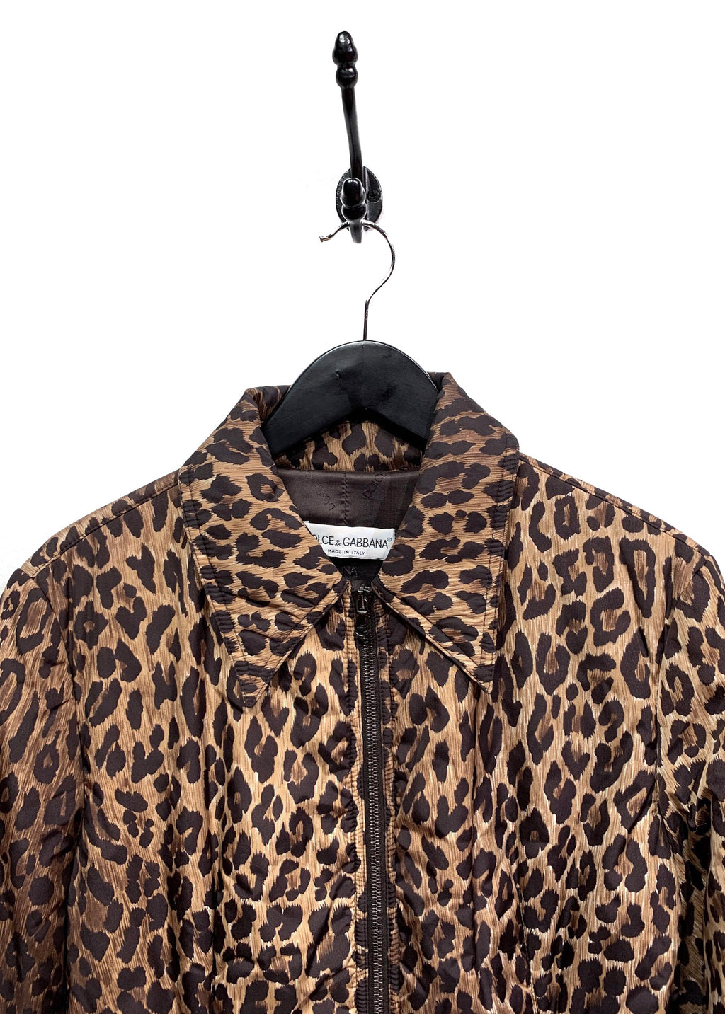 Dolce & Gabbana Vintage Leopard Print Padded Puffer