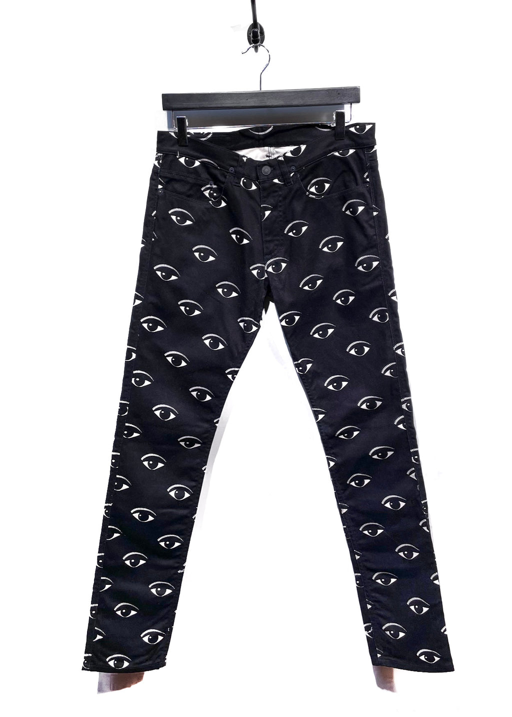 Kenzo Eye Print Black Denim Jeans