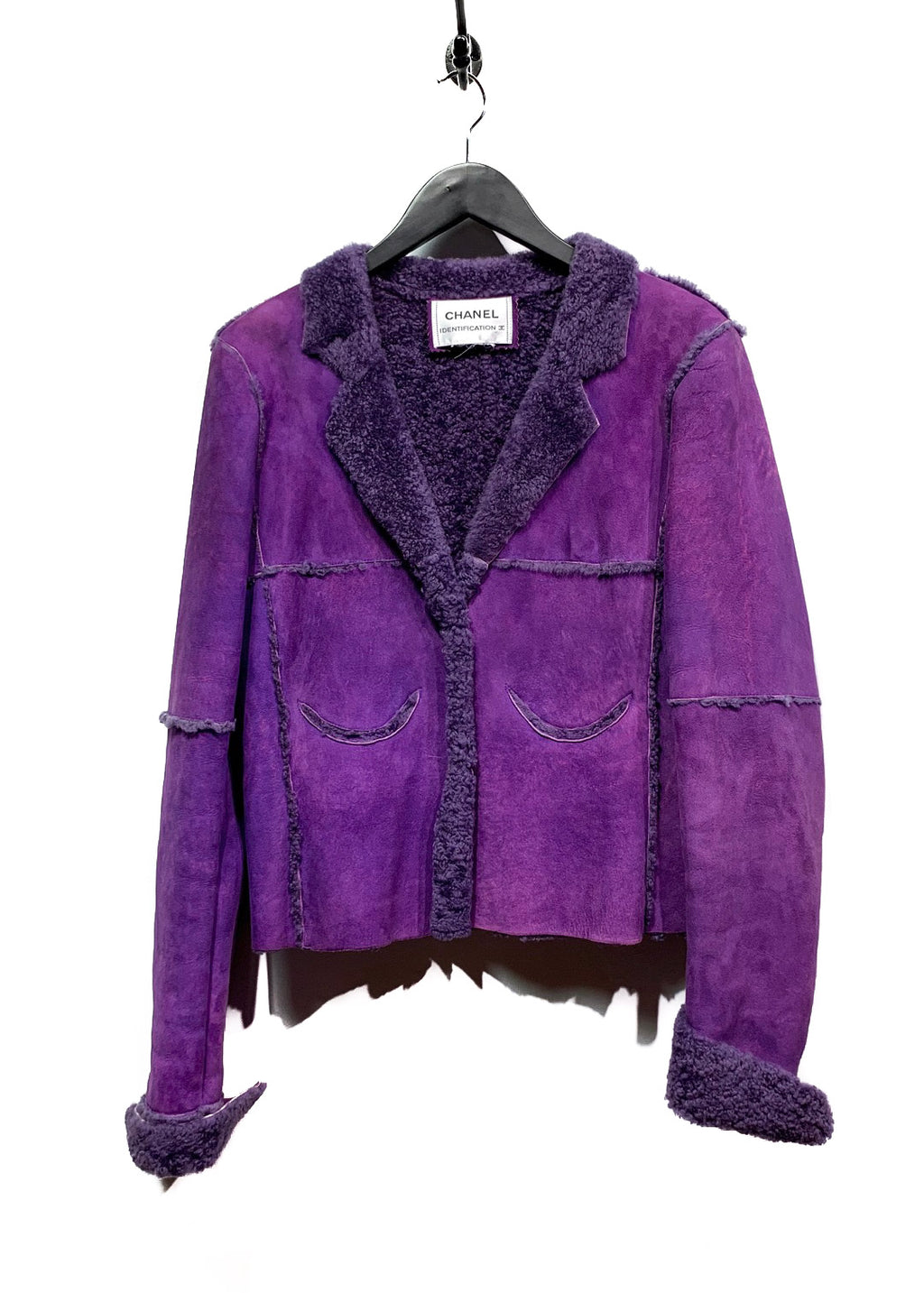 Chanel FW00 Vintage Purple Shearling Coat
