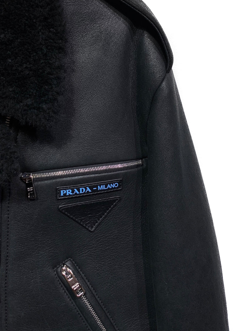 Prada Black Shearling Jacket
