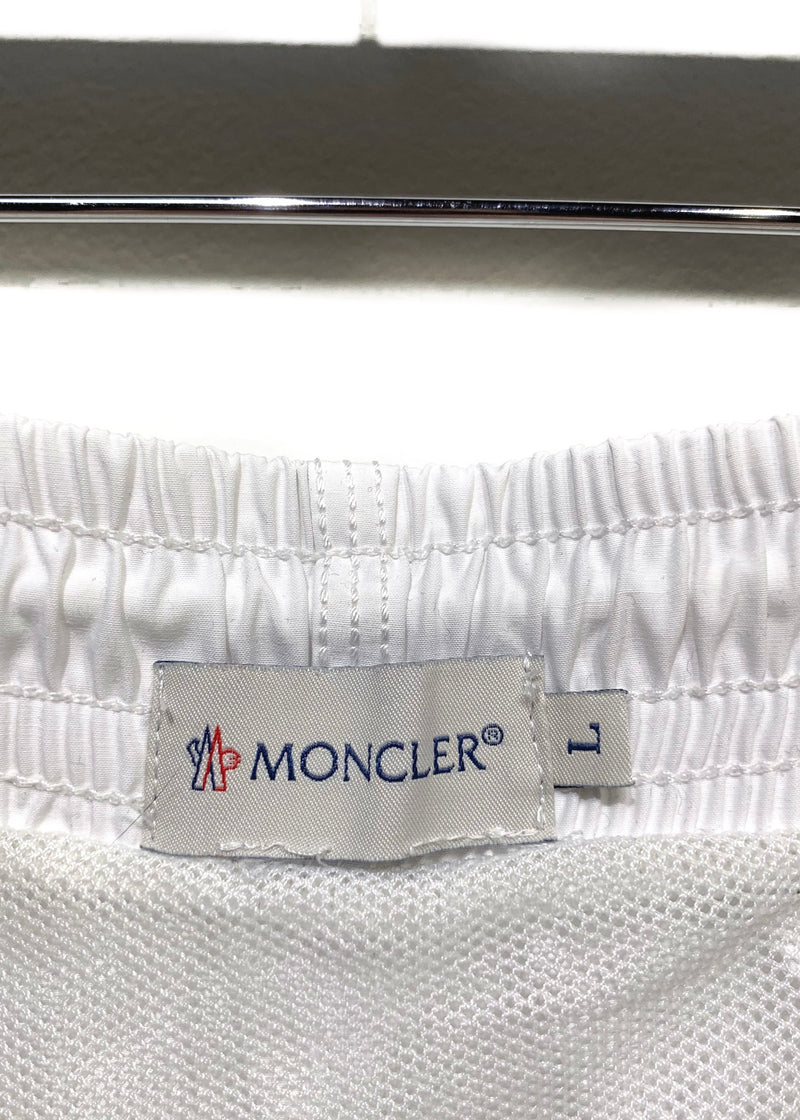 Moncler White Swim Shorts