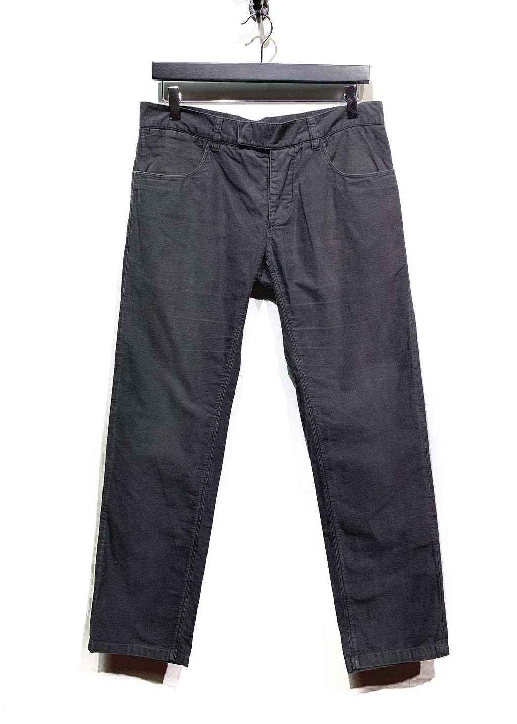Prada Linea Rossa Grey Brushed Cotton Chino Trousers