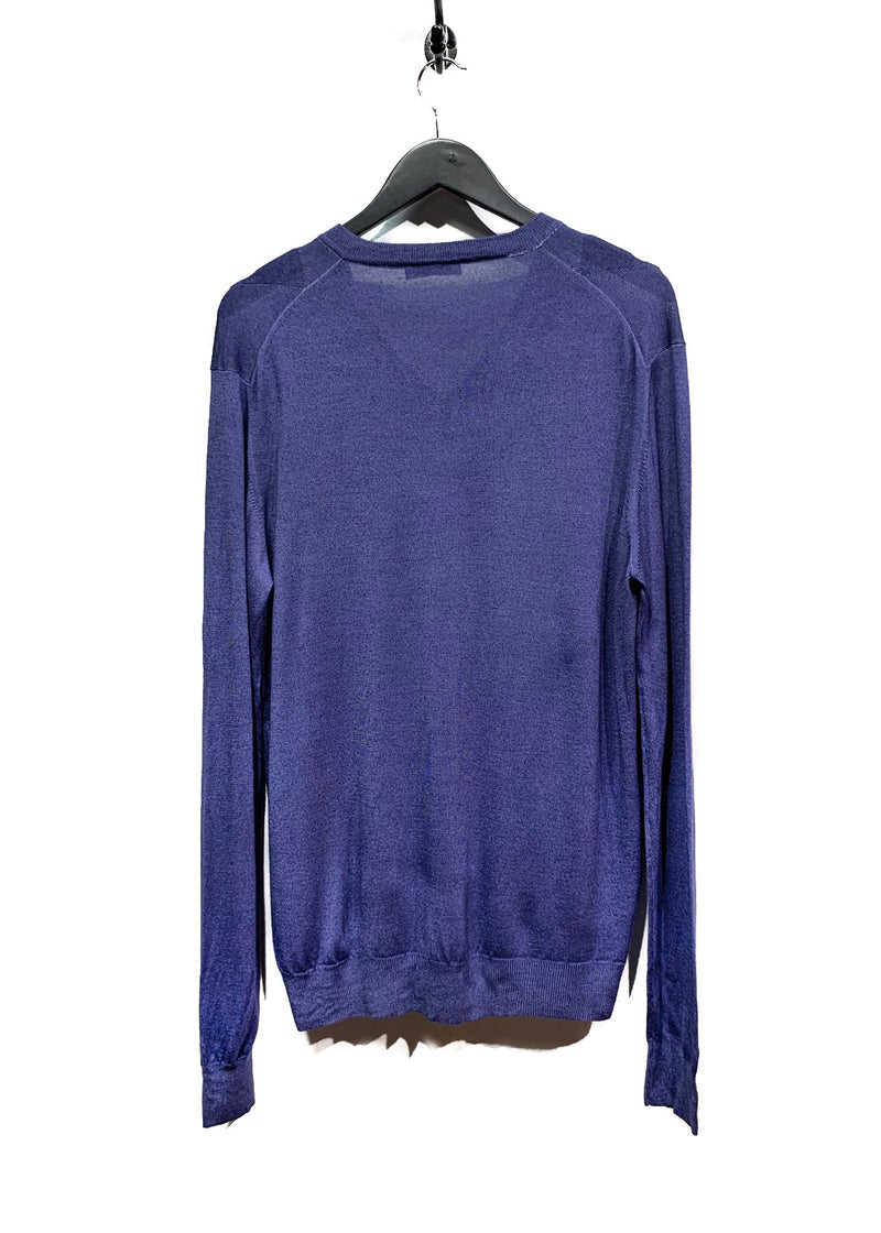 Prada Blue Argil Diamond Pattern Sweater
