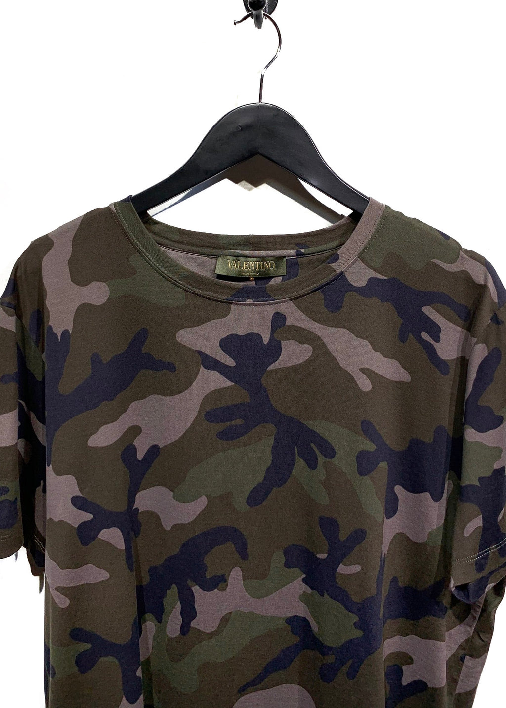 Valentino Green Camouflage T-shirt