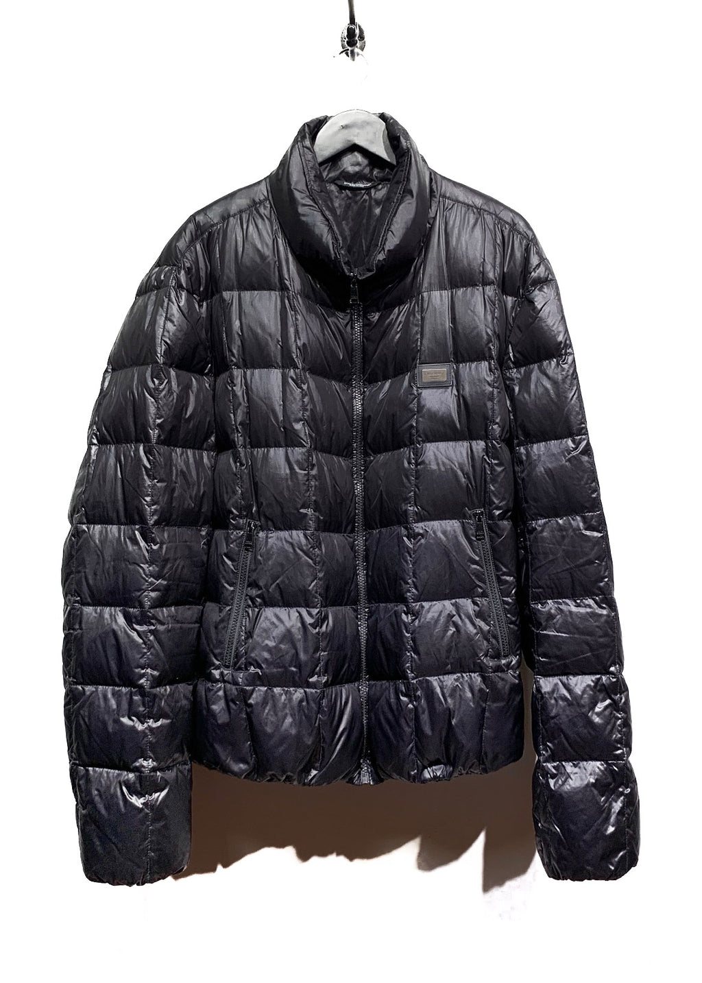 Dolce & Gabbana Black Down Filled Quilted Puffer Coat