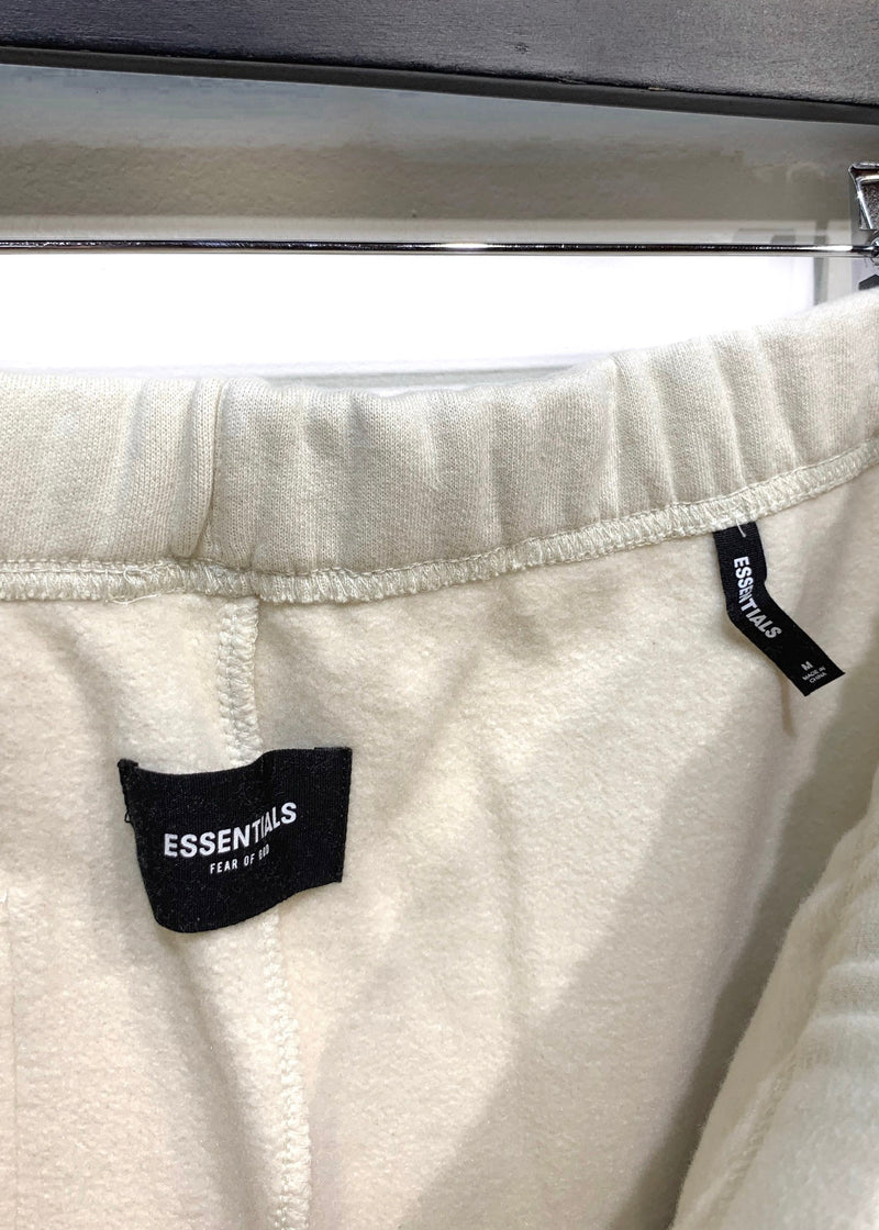 Essentials Fear Of God Bone Beige Embroidered Fleece Sweatpants