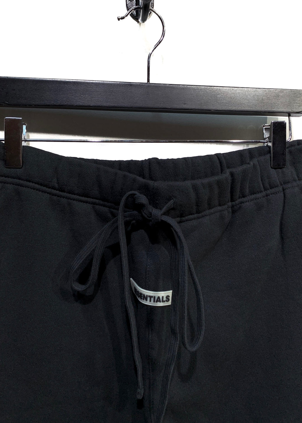 Essentials Fear of God Black Reflective Fleece Sweatpants