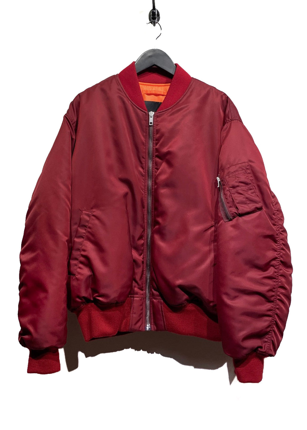 Calvin Klein 205W39NYC Red Embroidered Oversized Bomber