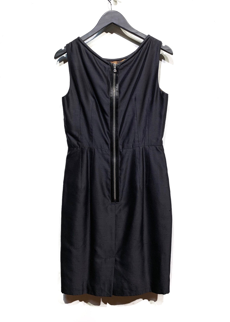 Dolce & Gabbana Black Silk Chanton Dress