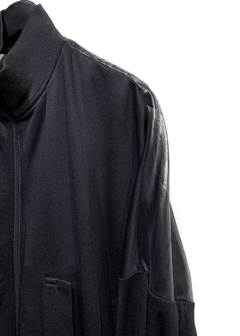 Y-3 Black See Through Back Zip-up Track Jacket