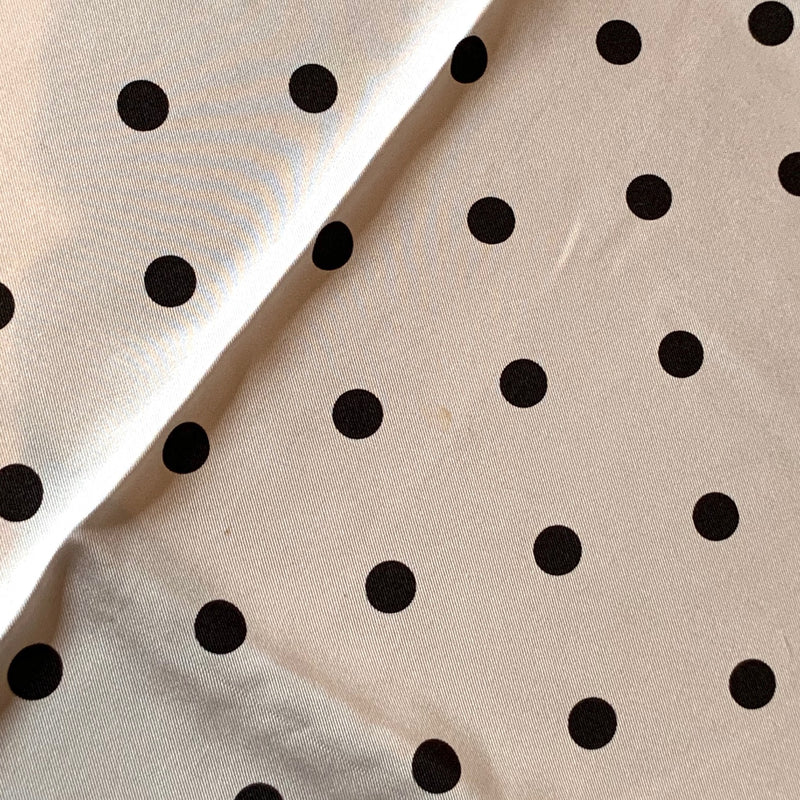 Moschino Cheap & Chic Ivory Jewels Polka Dot Print Silk Square Scarf
