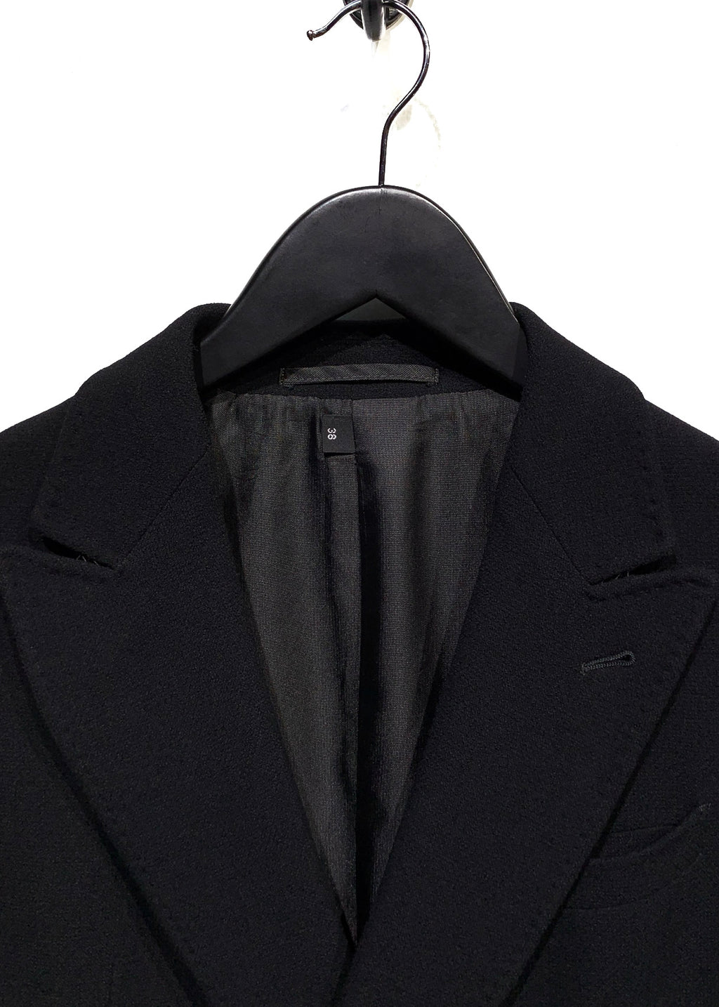 Armani Collezioni Black Wool Double Breasted Blazer
