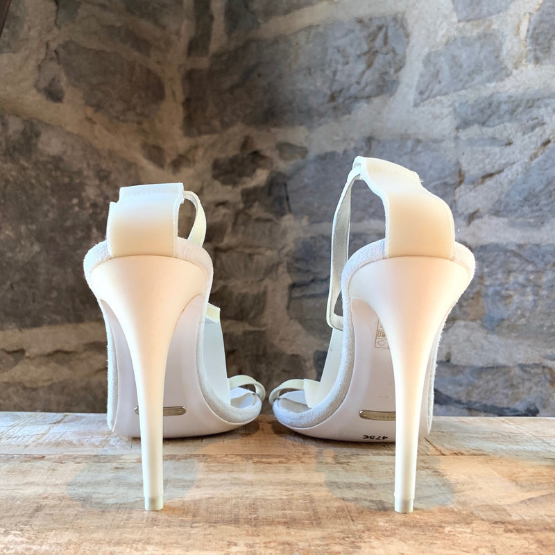Burberry Prorsum White T-Strap Sandals