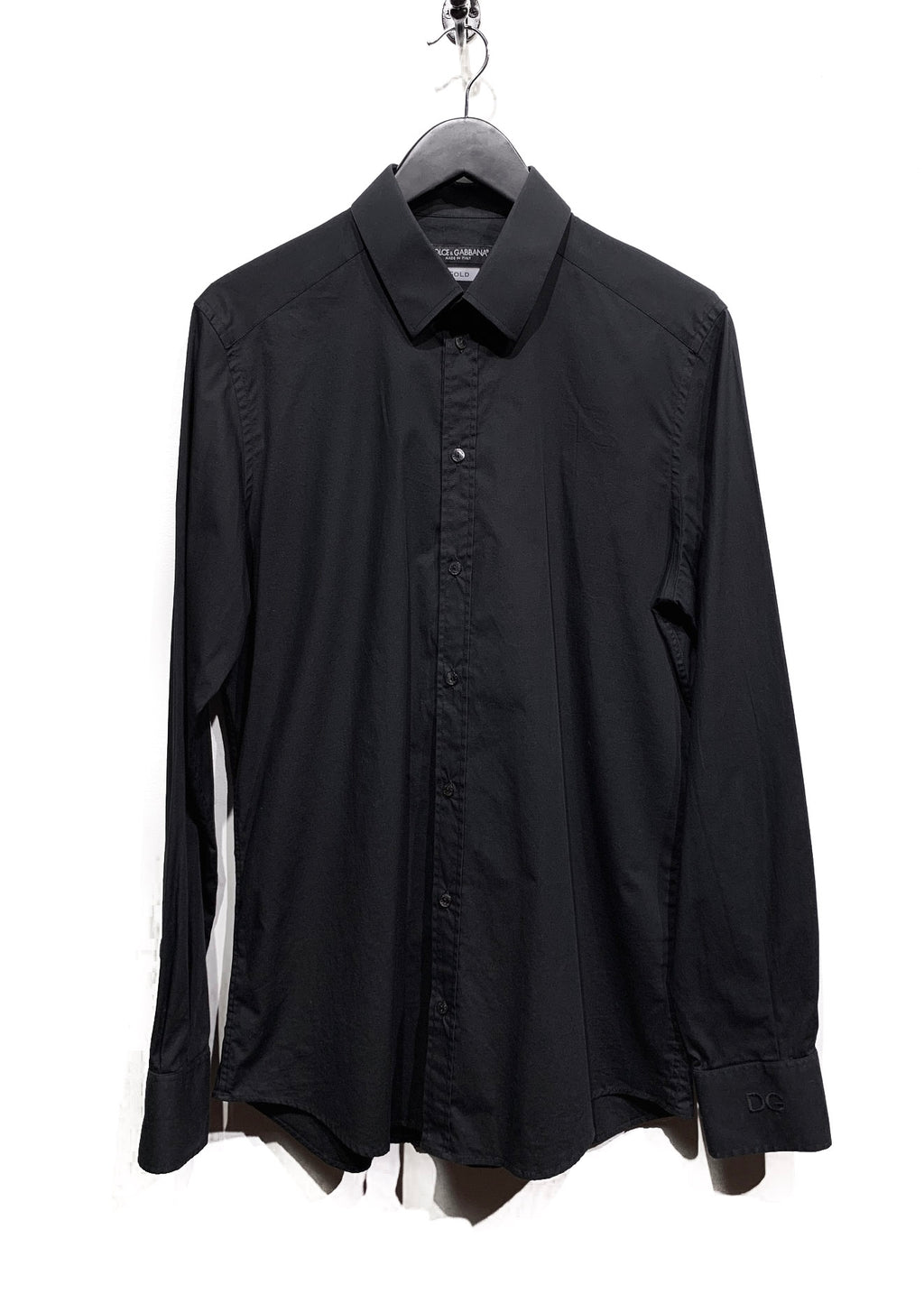 Dolce & Gabbana Black Gold Fit Stretched Dress Shirt