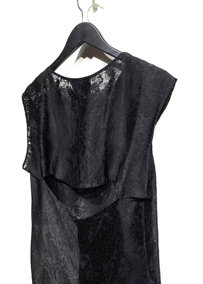 3.1 Phillip Lim Chiffon Sleeveless Open-Back Blouse