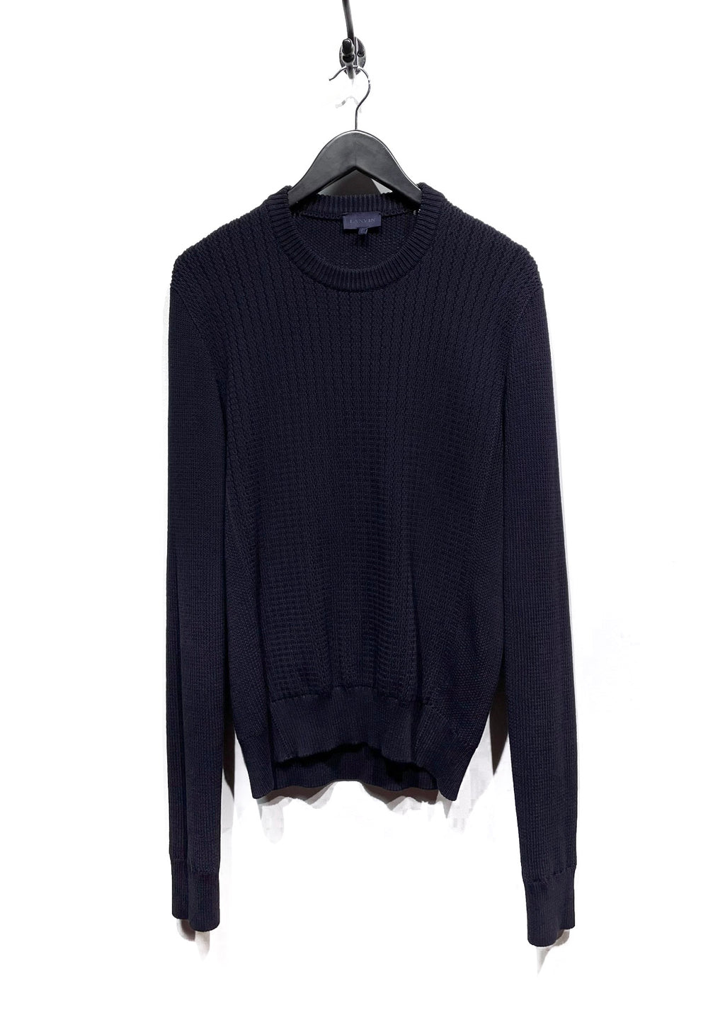 Lanvin Navy Cotton Knit Sweater