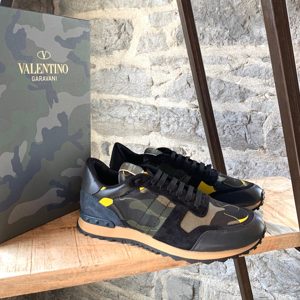 Valentino Green Camo Rockrunner Sneakers