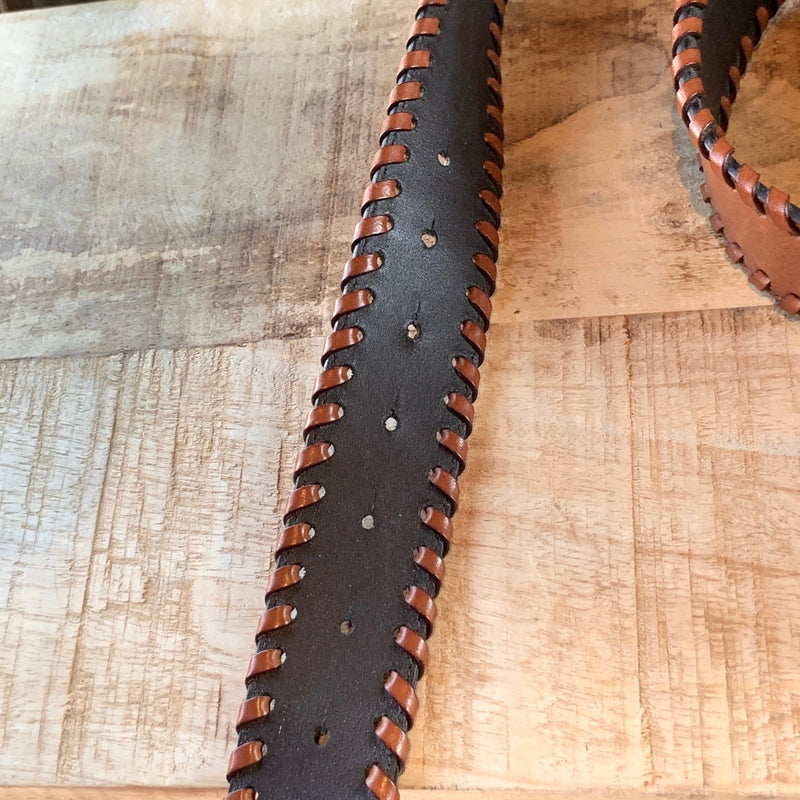 Valentino Eagle Brown Leather Belt