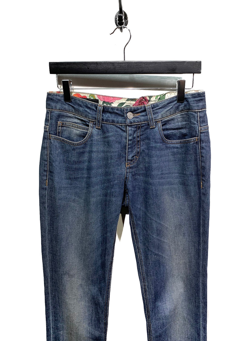 Gucci Washed Blue Low Waist Slim Jeans