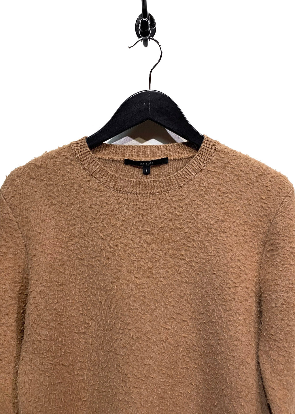 Gucci Tan Pilled Cashmere Blend Sweater