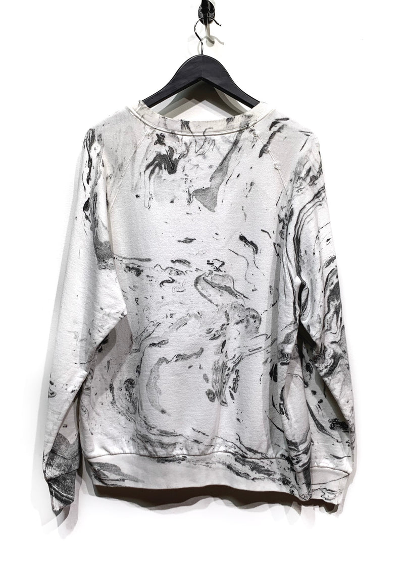 Saint Laurent Marble White Sweatshirt