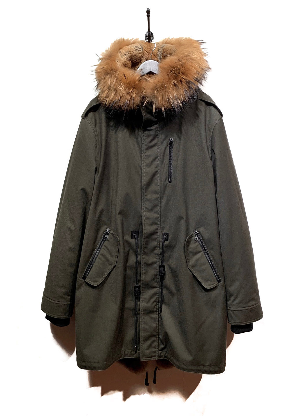 Mackage Army Green Moritz Fur Lined Parka