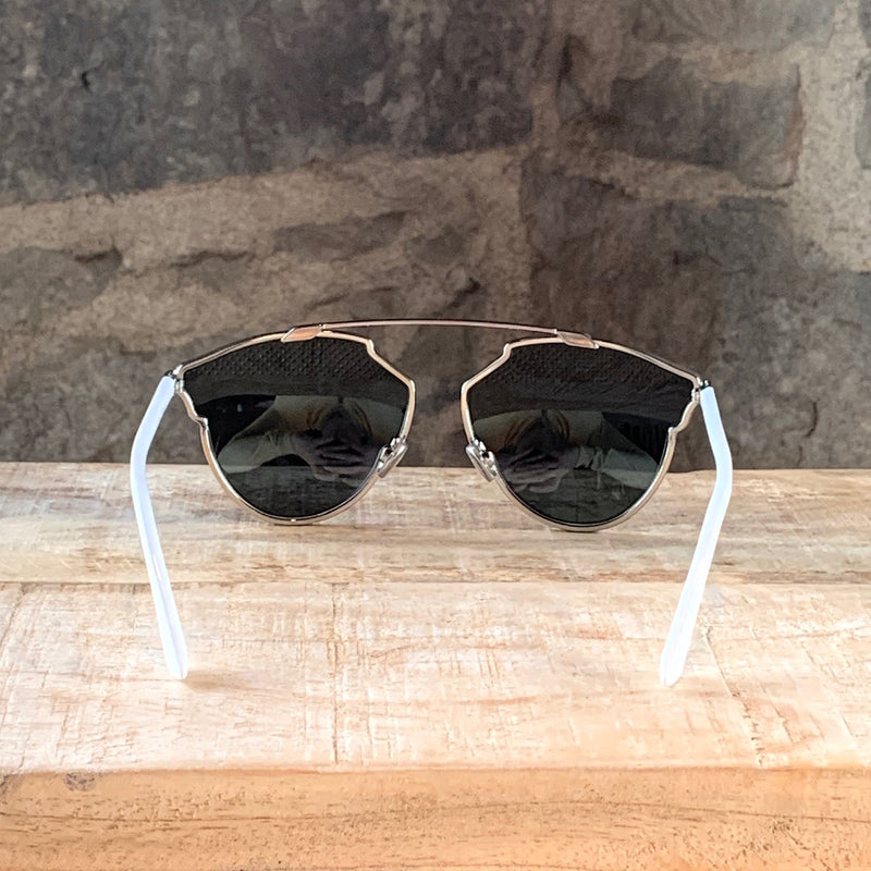 Christian Dior Silver Studded SoRealS Mirrored Sunglasses
