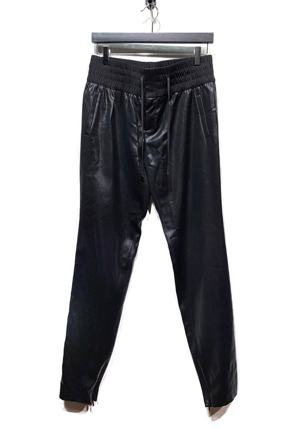 Gucci Black Shiny Jogger Trousers