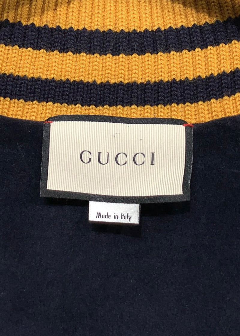 Gucci SS18 Velvet Dragon Embroidered Bomber Jacket
