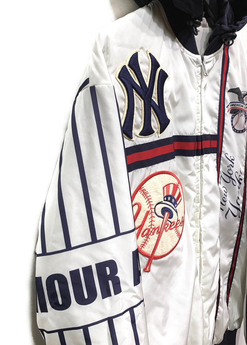Gucci FW18 NY Yankees Striped Windbreaket Jacket