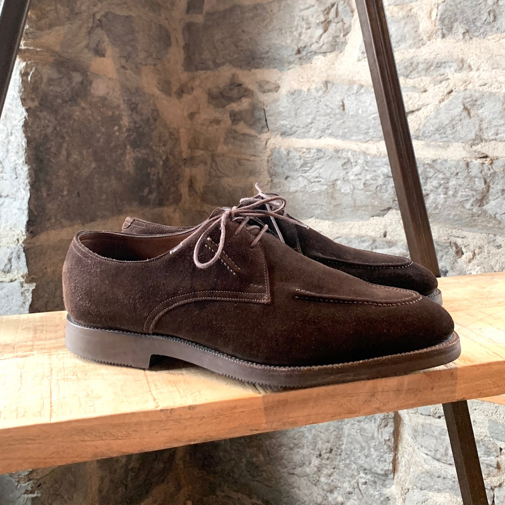 Edward Green Brown Suede Lace-Up Shoes