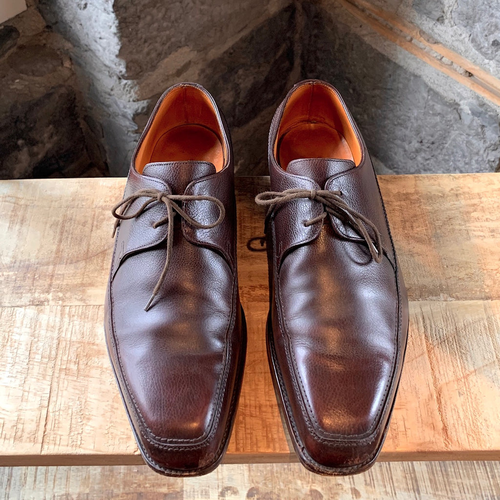 John Lobb Brown Leather Hurtwood Lace-up Shoes