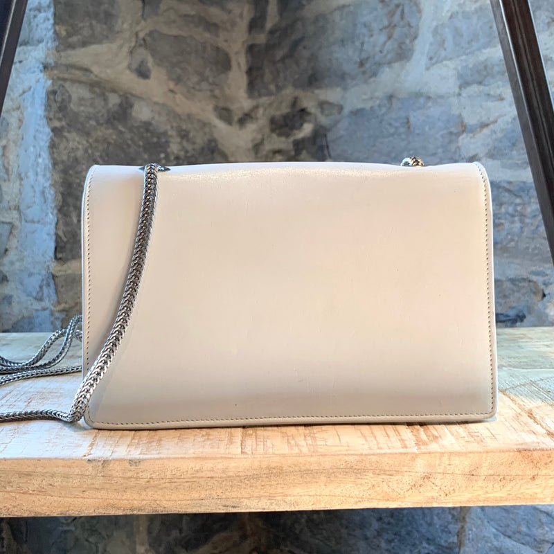Saint Laurent Betty Ivory Leather Crossbody Bag