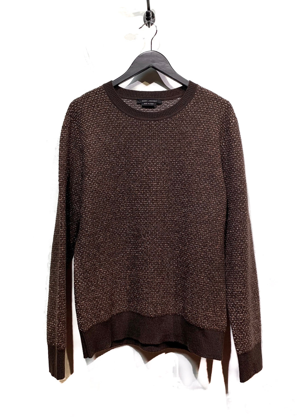 Marc Jacobs Brown Lurex Wool Knit Sweater