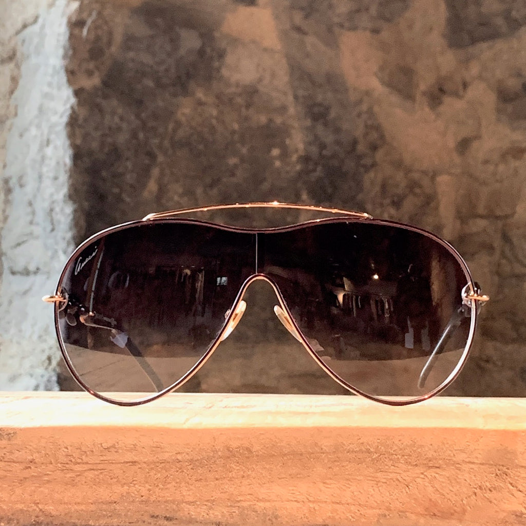 Gucci 4203 Brown Gradient Chain Temples Sunglasses