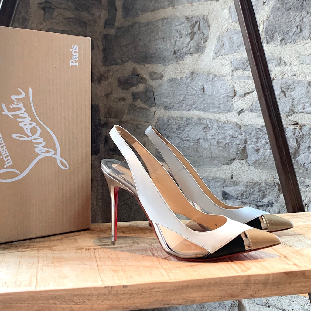 Christian Louboutin White Air Chance 100mm