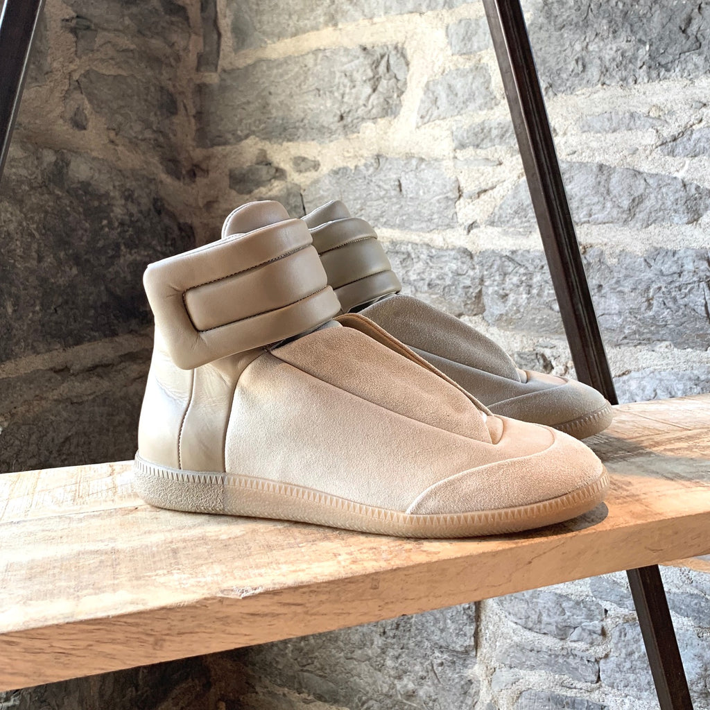 Maison Margiela Beige Suede and Leather Future High-top Sneakers