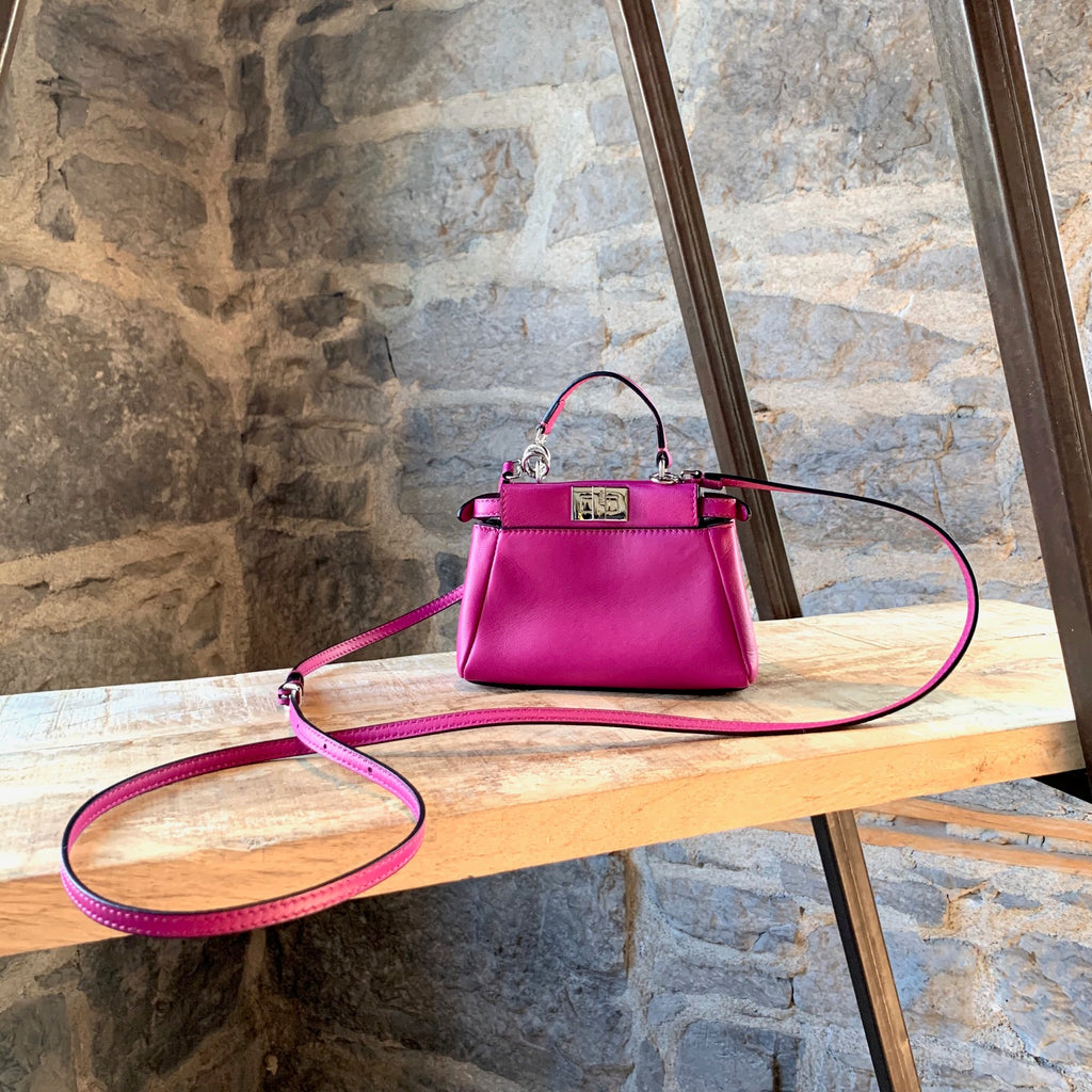 Fendi Fushia Micro Peekaboo Shoulder Bag