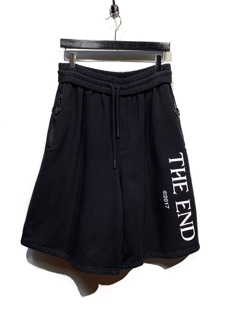 "Off-White Baggy ""The End"" Printed Sweatshorts"