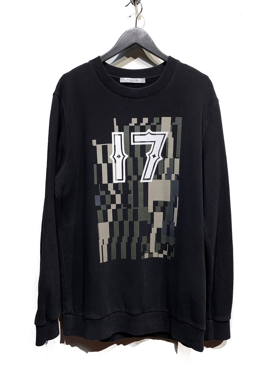 "Givenchy Black ""17"" Graphic Printed Sweatshirt"