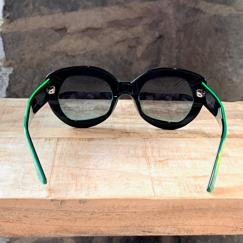 Marni 2015 MA287 Geometric Frame Green Sunglasses