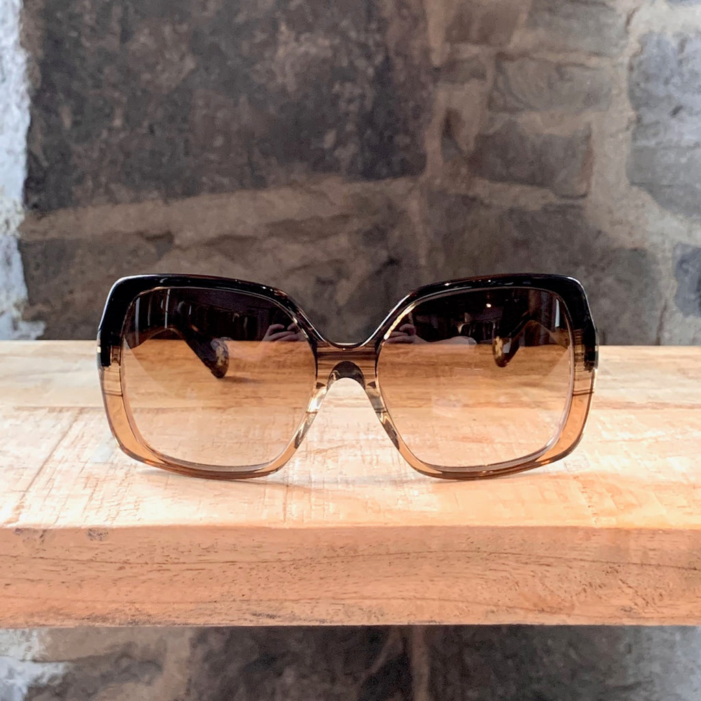 Chrome Heart Brown Square Gradient Queenie Sunglasses
