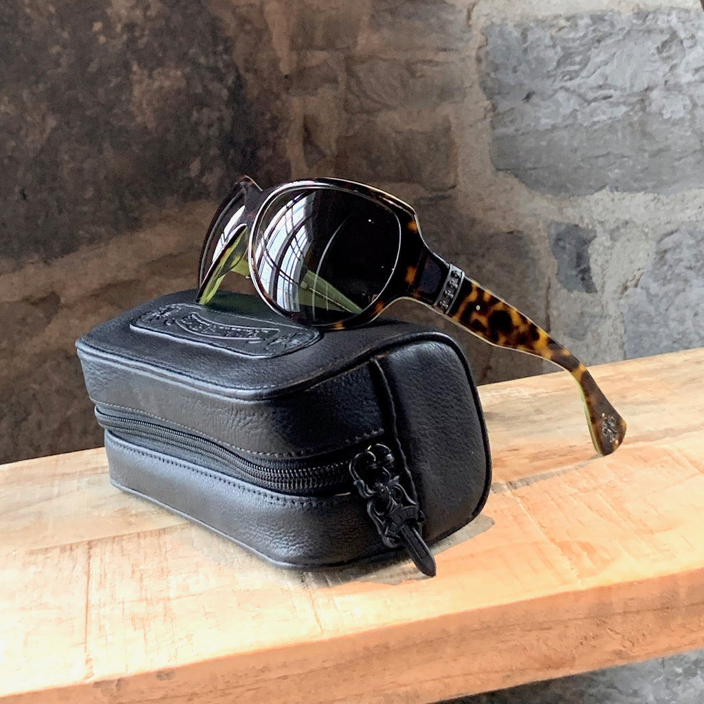 Chrome Hearts Tortoiseshell Lime Green Screamer Sunglasses