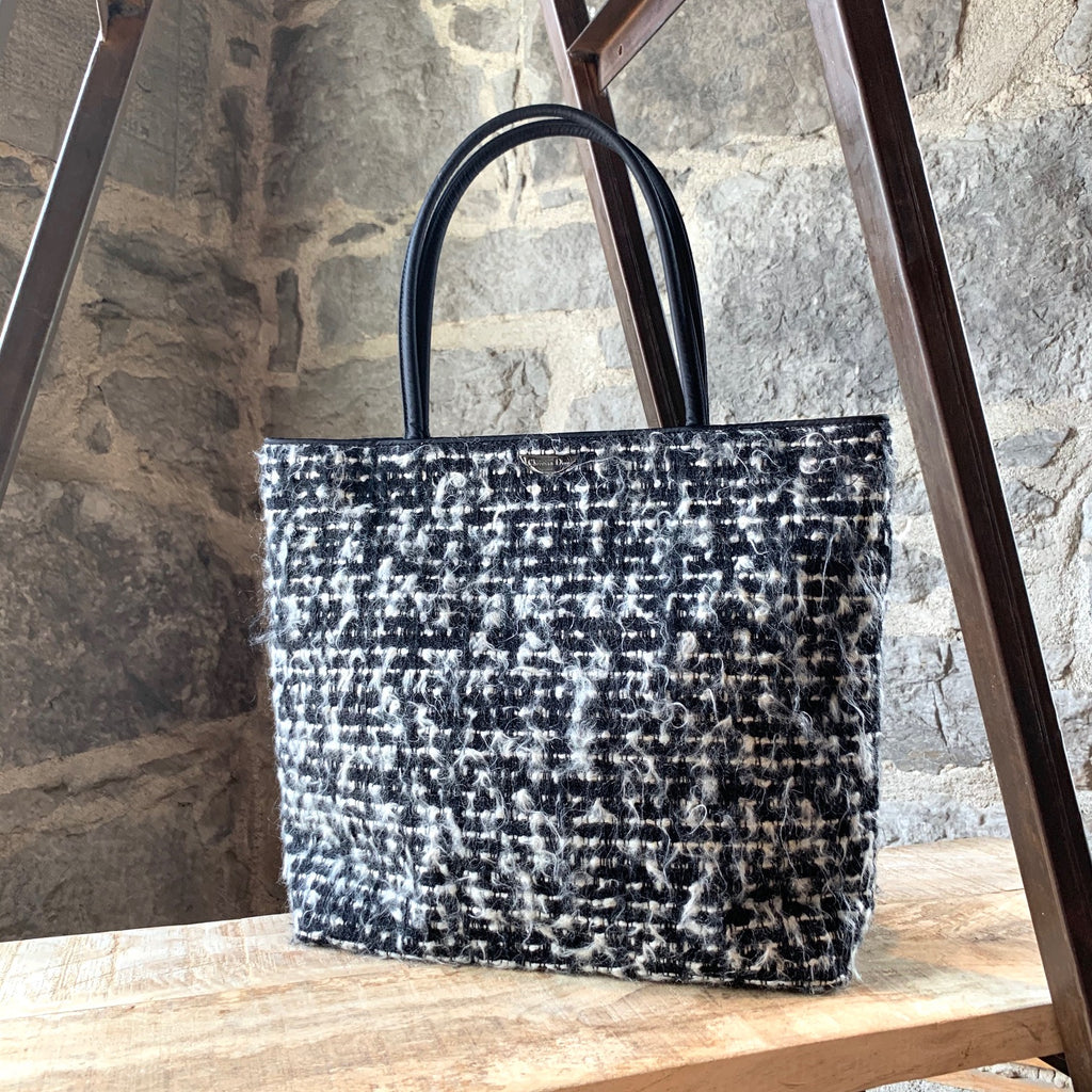 Christian Dior Black & White Tweed So Fine Tote