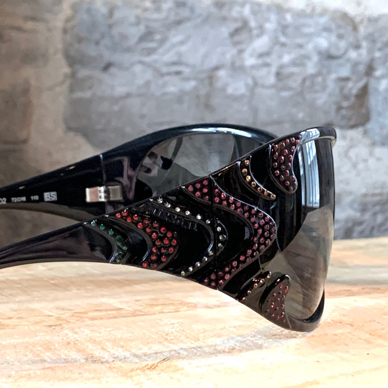 Missoni MI54102 Black Multicolour Crystals Embellished Sunglasses